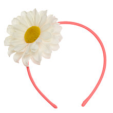 Buy John Lewis Daisy Headband, Pink Online at johnlewis.com
