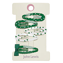 Buy John Lewis Bow Click Clack Hair Clips, Pack of 6 Online at johnlewis.com