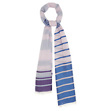 Buy Viyella Reversible Stripe Scarf, Lilac Online at johnlewis.com