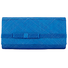 Buy Nigel Rayment Sinamay Bow Detail Clutch Bag, Royal Blue Online at johnlewis.com