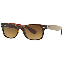 Buy Ray-Ban RB2132 New Wayfarer Sunglasses, Matte Havana Online at johnlewis.com