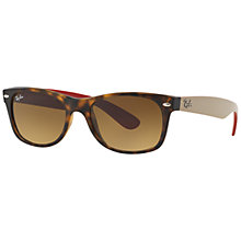 Buy Ray-Ban RB2132 New Wayfarer Square Sunglasses, Matte Havana Online at johnlewis.com