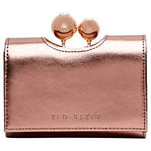 Buy Ted Baker Garrow Metallic Leather Purse Online at johnlewis.com