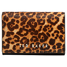 Buy Ted Baker Alethea Mini Leather Purse, Leopard Online at johnlewis.com