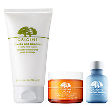 Buy Origins Super Spot Remover™ Blemish Treatment Gel, 10ml and GinZing™ Moisturiser, 50ml with Free Origins Checks And Balances™ Frothy Face Wash, 150ml Online at johnlewis.com