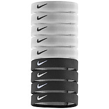 Buy Nike Sport Hairbands, Pack of 9, Black/White Online at johnlewis.com