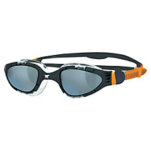 Buy Zoggs Aqua-Flex Swimming Goggles, Orange/Black Online at johnlewis.com