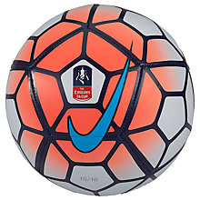 Buy Nike Skills FA Cup Mini Football, Orange/Multi Online at johnlewis.com