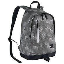 Buy Nike All Access Halfday Backpack, Grey/Black Online at johnlewis.com
