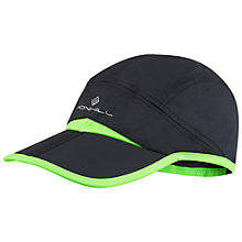 Buy Ronhill Split Running Cap, Black/Green Online at johnlewis.com