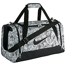 Buy Nike Brasilia 6 Graphic Training Duffel Bag, White/Black Online at johnlewis.com