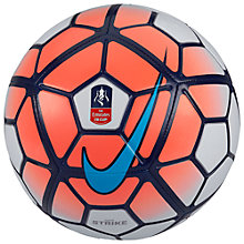 Buy Nike Strike FA Cup Size 5 Football, Orange Online at johnlewis.com