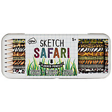 Buy Natural Products Safari Sketch Flocked Pencils, Set of 8 Online at johnlewis.com