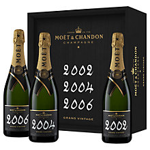 Buy Moët & Chandon Grand Vintage Coffret, Limited Edition, Set of 3 Online at johnlewis.com