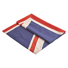 Buy Joules Gloria Union Jack Print Scarf, Navy/Multi Online at johnlewis.com