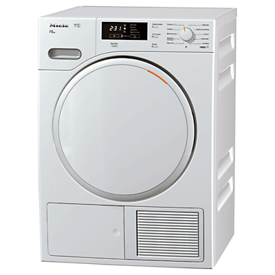 Miele TMB540 WP Heat Pump Condenser Tumble Dryer, 8kg Load, A++ Energy Rating, White
