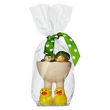 Buy Candy House Yellow Slipper Egg Cup & Milk Chocolate Eggs Online at johnlewis.com