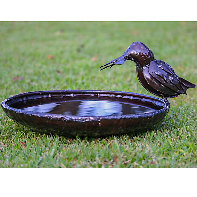 RSPB Kingfisher Metal Bird Bath