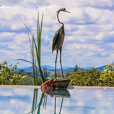 RSPB Standing Heron Metal Sculpture