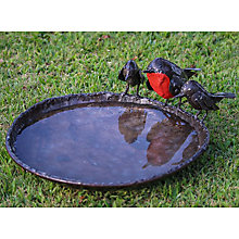 Buy RSPB Red Robins Metal Bird Bath Online at johnlewis.com