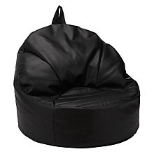 Buy John Lewis Snug Bean Chair, Black Faux Leather Online at johnlewis.com