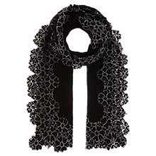 Buy Coast Corine Lace Edge Scarf, Black Online at johnlewis.com
