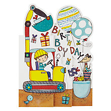 Buy Rachel Ellen Whippersnappers Digger Birthday Card Online at johnlewis.com