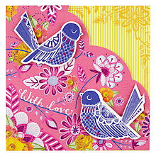 Buy Rachel Ellen Sunshine & Bloom Birds On Branches Birthday Card Online at johnlewis.com