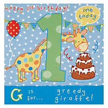 Buy Twizler Boys 1st Birthday Card Online at johnlewis.com