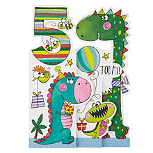 Buy Rachel Ellen Whippersnappers Dinosaur 5th Birthday Card Online at johnlewis.com