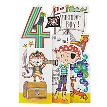 Buy Rachel Ellen Whippersnappers Pirate 4th Birthday Card Online at johnlewis.com