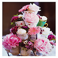 Buy Woodmansterne Teacups With Flowers Birthday Cards Online at johnlewis.com