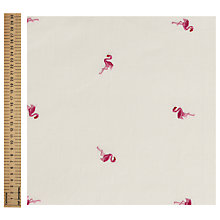 Buy John Louden Flamingo Cotton Fabric, Cream Online at johnlewis.com