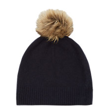 Buy Warehouse Cashmere Hat, Navy Online at johnlewis.com