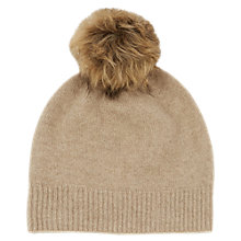 Buy Warehouse Cashmere Hat, Beige Online at johnlewis.com