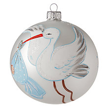 "Buy John Lewis ""1st Christmas"" Glass Bauble Online at johnlewis.com"