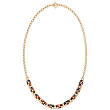 Buy Michael Kors Toggle Link Necklace, Gold/Tortoise Online at johnlewis.com