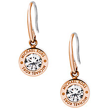 Buy Michael Kors Logo Drop Earrings Online at johnlewis.com
