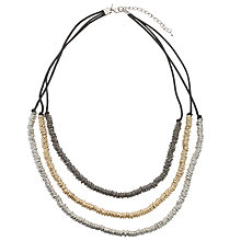 Buy John Lewis Cord and Rings Layered Necklace, Multi Online at johnlewis.com