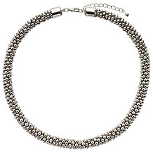 Buy John Lewis Metallic Ball Bead Necklace, Silver Online at johnlewis.com