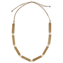 Buy John Lewis Wooden Rectangle Necklace, Brown/Cream Online at johnlewis.com