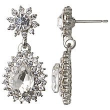 Buy John Lewis Statement Double Drop Earrings, Silver Online at johnlewis.com