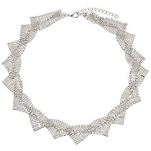 Buy John Lewis Twist Faux Pearl Statement Collar Necklace, Silver Online at johnlewis.com