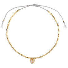 Buy Estella Bartlett Grace Nugget Bead and Cubic Zirconia Set Heart Charm Friendship Bracelet, Gold Online at johnlewis.com