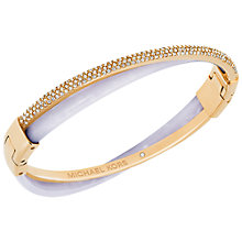 Buy Michael Kors Cubic Zirconia and Glass Pave Criss Cross Bangle, Rose Gold/Lavender Online at johnlewis.com