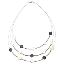 Buy John Lewis Illusion Discs Necklace, Multi Online at johnlewis.com