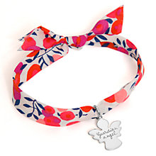 Buy Message by Merci Maman Sterling Silver Angel Charm Liberty Bracelet, Red Online at johnlewis.com