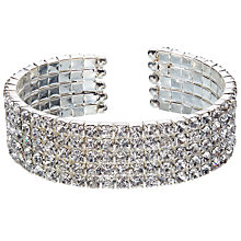 Buy John Lewis Cubic Zirconia Cuff, Silver Online at johnlewis.com