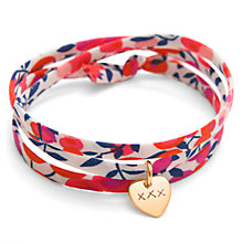 Buy Message by Merci Maman Kiss Kiss Kiss Liberty Wrap Bracelet, Red Online at johnlewis.com