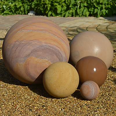 Foras Solid Sphere Sculpture, Set of 5